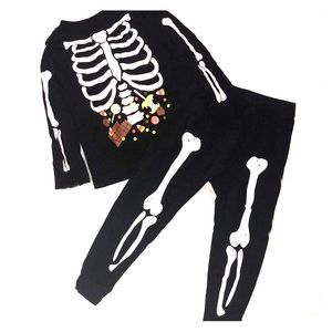 Skeleton trick or treat Halloween outfit toddler